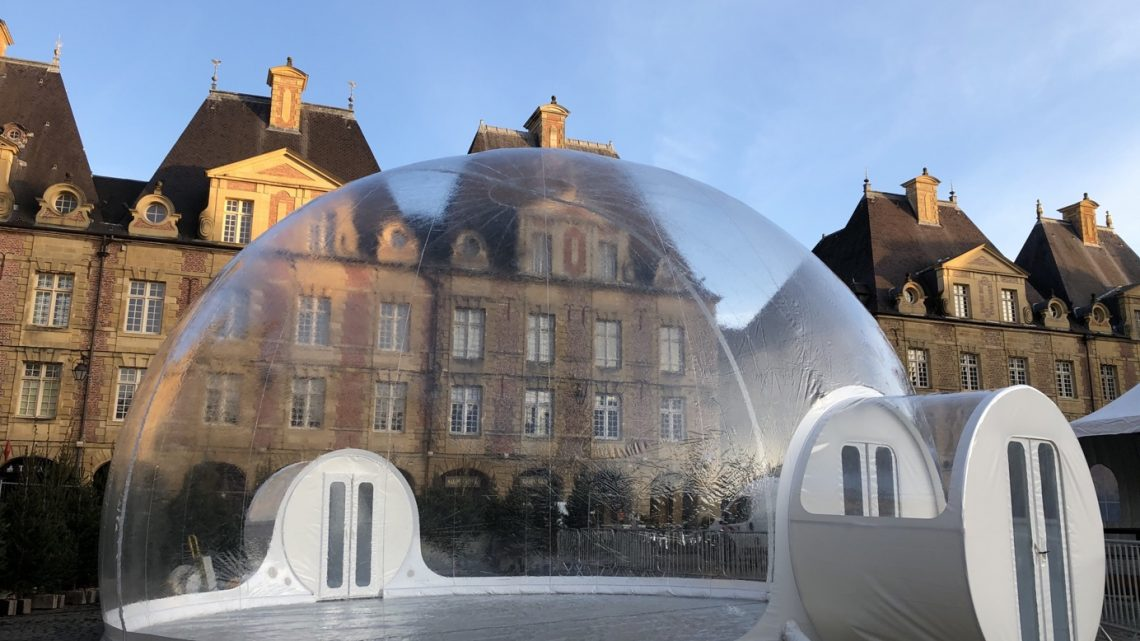 Innovation et originalité garanties avec un igloo gonflable !
